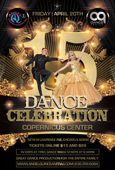 AQ Dance Center, Quinceanera Expo, Sweet 16, Dance Show, Angel Quinceaneras, 15th Dance Celebration, Angel Novoa, Chicago Quinceañeras expo, Copernicus Center