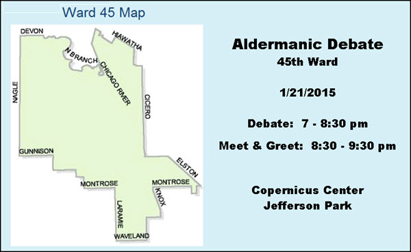 Aldermanic Debate, 45th Ward, Chicago, Copernicus Center, Jefferson Park