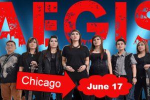 Live concert, June 17, 2017, AEGIS Band, the Aegis Band, Heavy Metal, Hard Rock, Blues Metal, OPM rock, Original Pinoy Music, Filipino Concert, Chicago, Copernicus Center, Aegis Band tickets