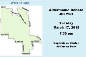 45th Ward, aldermanic debate, Chicago, debate, Jefferson Park, John Arena, John Garrido, Copernicus Center