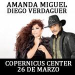 Diego Verdaguer y Amanda Miguel en concierto, Sabado 26 de Marzo, Chicago, Diego Verdaguer, Amanda Miguel, Amanda y Diego, concierto, 3/26/16