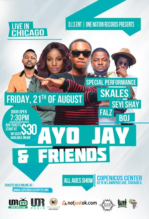 Ayo Jay, Chicago, AfroBeat Concert, Skales, Seyi Shay, Boj, Falz, 8/21/15, Live Concert, Chicago Events, Copernicus Center