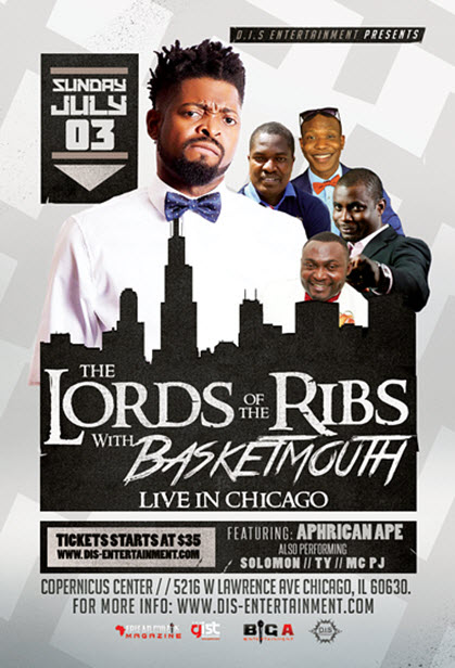 Live Comedy, Basketmouth, African Comedy, Copernicus Center, Nigerian Comedian, D.I.S Entertainment, DJ Dee Money, DJ 3K, lord of the ribs, 7/3/2016