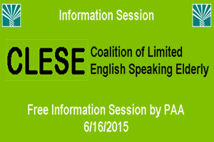 CLESE - Coalition of Limited English Speaking Elderly, CLES, Chicago, Elderly, Senior Services, Senior Information, Chicago, Polish American Association, PAA, Copernicus Center
