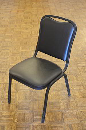 Chair - Black vinyl