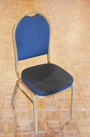Chair - Blue Gold Pattern
