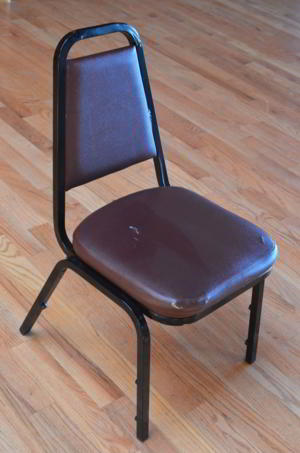 Chair Brown Vinyl-Black Frame