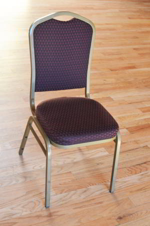Chair - Maroon gold pattern