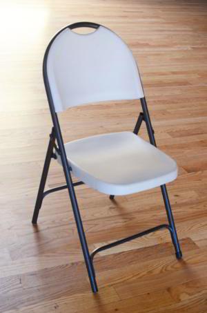 Chair - White Folding