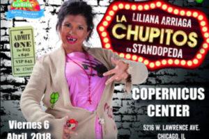 La Chupitos en Standopeda, Comedia, Done Deal Events, Eventos Chicago, Comediantes Mexicanos, Que Hacer en Chicago, Espectactulos en Chicago, artistas mexicanos en Chicago, Copernicus Center, 4/6/2018