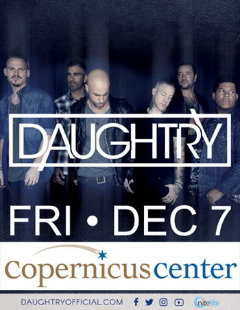 Daughtry live in Chicago, Daughtry concert, concerts in Chicago, Copernicus Center Chicago, live music concerts, 12/7/2018, 7 December 2018
