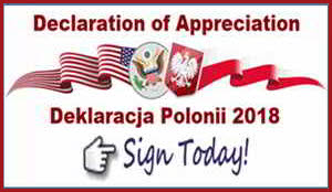 Declaration of Appreciation, hundredth Anniversary of Polish Independence, Polish thank USA, Polish sovereignty, Copernicus Center Chicago, sign the Polish declaration, #DeklaracjaPolonii2018, Deklaracja Polonii