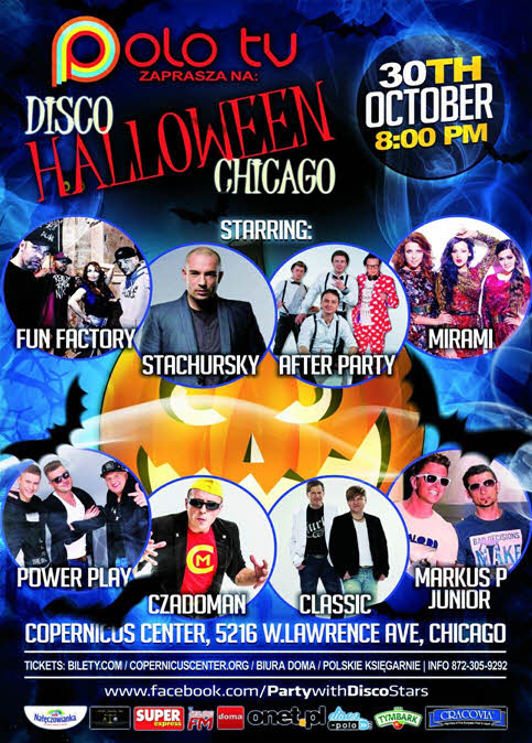 10/30/2015, After Party, Chicago, Classic, Copernicus Center, Czadoman, Disco Party Halloween, Fun Factory, imprezy, koncerty, Markus P, Mirami, polskie, Power Play, Stachursky, Wydarzenia