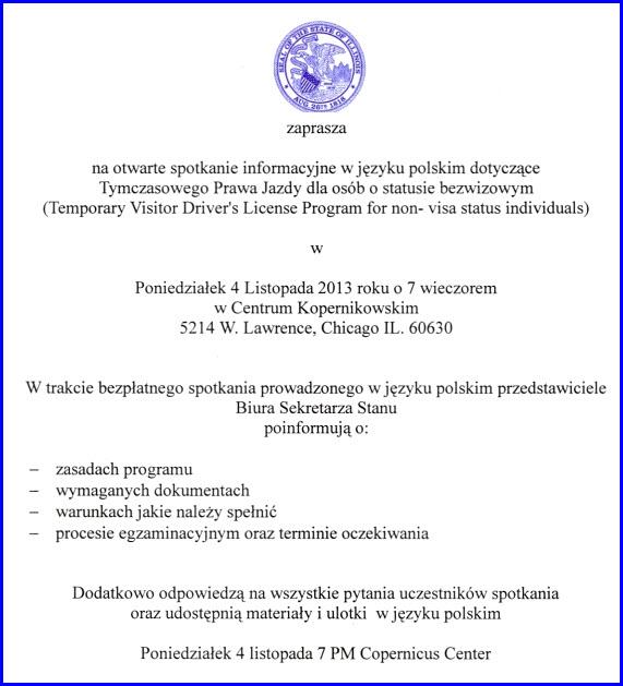 Temporary Visitor Driver's License Change - Copernicus Center