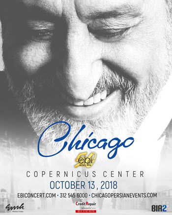 Ebi, Persian Concert, Chicago Concert, Iranian concert, Ebi world tour, Chicago Persian Concert, Ebi Live in Concert, Ebi 50, Persian Events, Copernicus Center, Chicago Persian Events, Chicago, Ebi Tickets Chicago, 10/13/2018, Ebi's 50th
