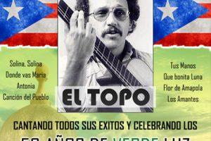 El Topo en Chicago, Antonio Caban Vale, 50 Años de Verde Luz de Monte y Mar, Copernicus Center, ArtBiz, Eventos latinos, latinos Chicago, concierto en vivo, Boletos para El topo, Chicago
