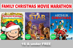 Family Christmas Movie Marathon, Christmas Movies, Copernicus Center Chicago, Curious George, Arthur Christmas, Santa, The Star, Family Event, kids free, Family events in Chicago, Christmas Market, Paderewski Symphony Orchestra, PaSO, Christmas Around the World, Christmas Concert, Polish Christmas Market, Pictures with Santa, family Christmas events in Chicago, 8 December 2018, 12/8/2018
