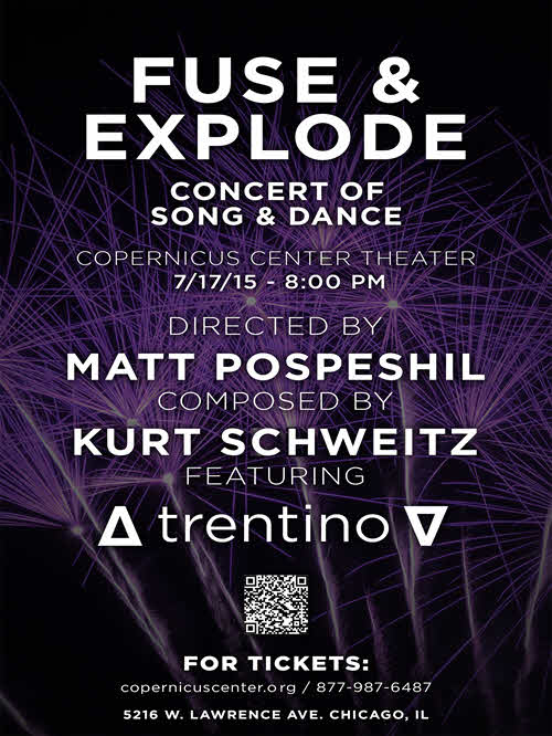 Fuse & Explode, Fuse and Explode, dance, live music, concert, tap dance, hip hop dance, event, jazz music, hip hop music, funk music, contemporary music, art, trentino, matt pospeshil, kurt schweitz, Chicago, Copernicus Center