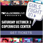 Fullscreen Live, Girls' Night In, MyLifeAsEva, Fullscreen Live Presents: Girls' Night In, Meredith Foster, Alisha Marie, Meghan Rienks, Mia Stammer, Andie Case, Chicago Events, Chicago Comedy, comedy, YouTube, YouTube MyLifeAsEva, Chicago