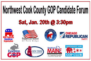 Northwest Cook County 2018 GOP Primary Candidate Forum, Cook County GOP forum, Candidates Forum Chicago, Republicans of Maine Township, Northwest Side GOP Club, Niles Township, New Trier Township, Evanston Township, Elk Grove Township, 2018 Gubernatorial Primary Candidate Forum, Copernicus Center, Chicago GOP forum