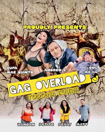 Gag overload, Andrew E, Ruffa Mae Quinto, Long Mejia, Pepay, Petite, Dandan, Comedy in Chicago, Copernicus Center Chicago, Filipino Comedians, 22 September 2018
