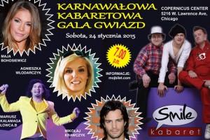 kabaret, kabareton, cabaret, kabaret smile, lowcy.b, mariusz kalamaga, wlodarczyk, bohosiewicz, krawczyk, chicago, Copernicus Center, Polska, polskie imprezy