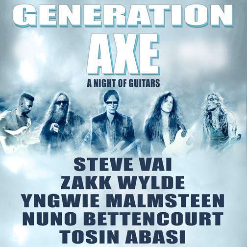 Generation Axe, Generation Axe Tour, Steve Vai, Zakk Wylde, Yngwie Malmsteen, Nuno Bettencourt, Tosin Abasi, a night of Guitars, Chicago, 4/29/2016, live concert, rock concert, classic rock concert, Copernicus Center