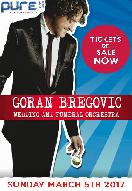 Goran Bregovic, Goran Bregovic & His Wedding & Funeral Band, Brega, Bijelo Dugme, Kayah, Kayah i Bregovic, Kodeski, Jutro, ex yu rock, tifa, alen islamovic, zeljko bebek, Arizona Dream, Emir Kusturics, time of the gyspies, queen margot, patrice chereau, sezen aksu, george dalaras, Thessaloniki Yannena with two canvas shoes, kryzysztof Krawczyk, Borat, Djurdjevdan, durdevdan, kalasnikov, salve jorge, Muharem Redžepi, Bokan Stanković, Dragić Veličković, Stojan Dimov, Aleksandar Rajković, Milos Mihajlović, Ludmila Radkova-Traikova, Daniela Radkova-Aleksandrova, alen ademovic, ogi, serbian music, russian music, romanian music, polish music, romani music, gypsy music, cigani, ciganska muzika, bulgarian music, bosnian music, balkan music, balkan brass, balkan gypsy music, ederlezi, champagne for gypsies, sljivovica & champagne, karmen with a happy end, tales and songs from weddings and funerals, kris & goran, balkanica, silence of the balkans, dugun ve cenaze, paradehtika, jugoslavija, yugo rock, yugoslavia, serbian rock, goran bregovic i njegov orkestar za svadbe i sahrane, napile se ulice, butterfly cloud, silent gunpowder, the little one, caruga, tixic affair, la nuit sacree, la nombril du monde, kika, a chef in love, the serpent's kiss, train de vie, the lost son, tuvalu, operation simoom, 27 missing kisses, je li jasno prijatelju?, the turkish gambit, i giorni dell'abbandono, karaula, la lievre de vatanen, fly by rossinant, mustafa, baikonur, world music, serbian composer, 3/5/2017, Copernicus Center, Chicago, Chicago Serbian events