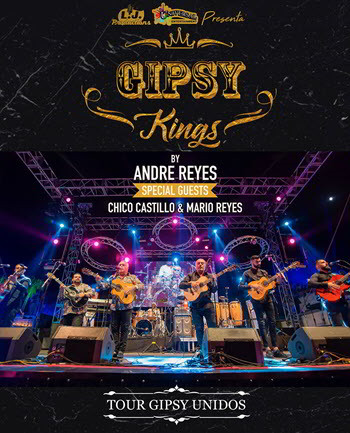 Gipsy Kings 2018, Gipsy Kings en Chicago, Copernicus Center, Tour Gipsy Unidos, Tonino Baliardo, Nicolas Reyes, Eventos en Chicago, Eventos Latino, conciertos latinos, Gipsy Kings boletos, 26 October 2018