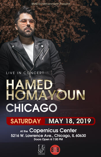 18 May 2019, 2019-05-18, Chicago Persian Concerts, Hamed Homayoun in Chicago, Hamed Homayoun in concert, Persian events in Chicago