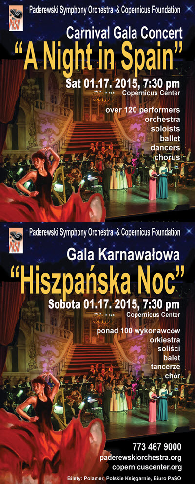Classical music, aria, Carmen, centrum Kopernik, Chicago, Chicago Events, concert karnawalowy, Copernicus Center, flamenco, gala karnawalowa, gorace rytmy, Live Concert, muzyka, opera, Paderewski Symphony Orchestra, PaSO, polonia, Polska, polskie imprezy, spanish music, spiew, taniec, zorro