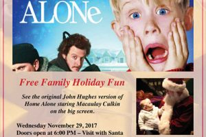 Home Alone, free movie night, Jefferson Park Chamber, Chicago family events, free family events, Copernicus Center, Northwest Chicago Historical Society, pictures with Santa, Chicago events