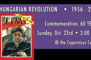 Hungarian revolution, 1956 Revolution, Freedom Fighter, Time Magazine 1956 Man of the Year, Hungarian Revolution 60 years, 1956 – 2016, Hungary, 60 year Anniversary, 2016, Polish Hungarian Brotherhood, Hungarian Revolution commemoration, Copernicus Center, October 23, commemoration, Hungarian waterpolo 1956, Chicago, Hungarian events,