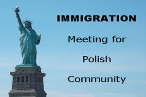 Immigration Meeting for Polish Community