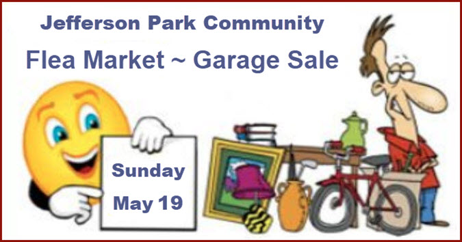 Jefferson Park Garage Sale, Jefferson Park Flea Market, Jefferson Park Community Flea Market – Garage Sale, Chicago Garage sales, JPNA, Jefferson Park Chamber of Commerce, Jefferson Park Neighborhood Association, Copernicus Center, 2019-05-19