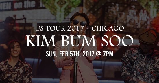 Kim Bum Soo Us Tour 2017 Chicago Copernicus Center