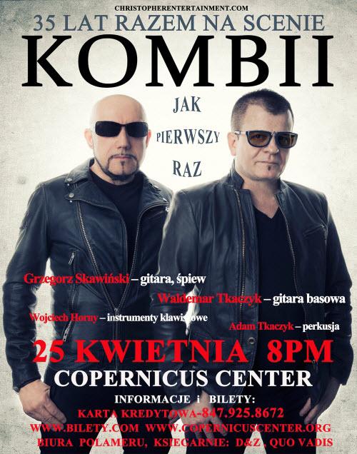 KOMBII, Wydarzenia, koncerty, Chicago, Kwientnia, Polskie, Copernicus Center