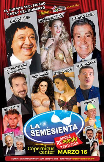 La Semesienta 2019, Comedia Chicago, Niurka, copernicus center chicago, Luis de Alba, Alfonso Zayas, Homerito, Comediante mexicanos, chicago, teatro chicago, Eventos en Chicago, Eventos Latino, 3/16/2019