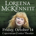 Loreena McKennitt, Loreena McKennitt tickets, celtic muisc, gaelic music, Chicago events, Trio Performance series, Copernicus Center, Brian Hughes, Caroline Lavelle, 10/14/16, Chicago, October events