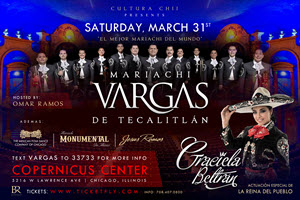 mariachi events Chicago, mariachi event Chicago, mariachi Chicago, mariachi vargas en Copernicus, mariachi vargas tickets, mariachi vargas boletos, eventos mexicanos en Chicago, graciela beltran Chicago, graciela beltran mariachi, graciela beltran en Copernicus, Copernicus Center