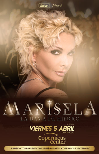 Marisela 2019, concierto chicago, dama de hierro, Copernicus center Chicago, marisela conciertos 2019, música regional Mexicana, Eventos en Chicago