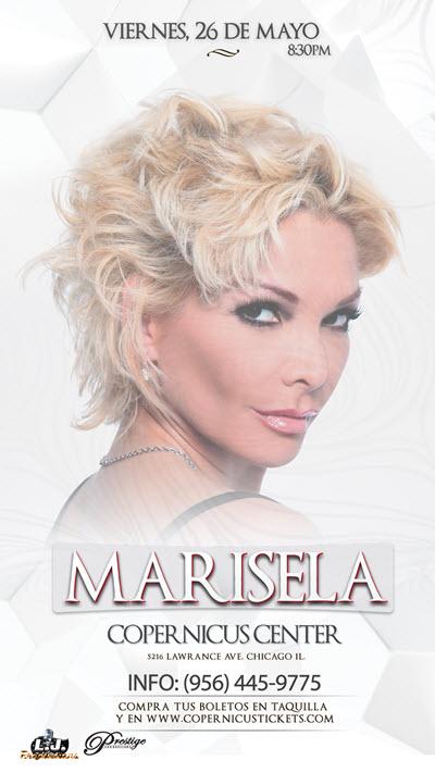 Marisela, Marisela Chicago, Dama de Hierro, Marisela La Dama de Hierro, Concierto Marisela, Marisela Copernicus Center, Eventos Chicago, Marisela boletos
