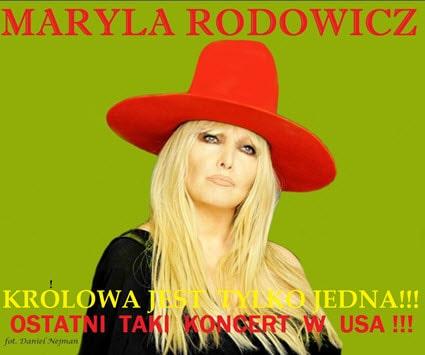 Maryla Rodowicz, koncert w USA, Maryla Rodowicz w Chicago, Rodowicz w chicago, 10/21/2017, Copernicus Center, polskie imprezy w chicago,Polskie wydardenia, bilety maryla rodowicz, 2017