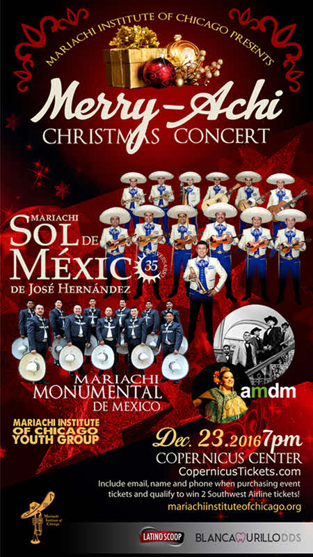 Merry-Achi, Merry Achi, Christmas Concert, Chicago Mariachi Concert, Chicago Mariachi, Holiday Concert, Xmas Concert, Sol de México, Sol de México de Jose Hernandez, Jose Hernandez, Mariachi Institute of Chicago, Mariachi Educators, December 23, 2016, Posada Navideña, Mariachi Monumental, Amdm, Mariachi Music, Feliz Navidad, Copernicus Center, Chicago, Latino Events
