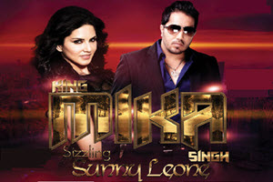 Mika Singh with Sunny Leone