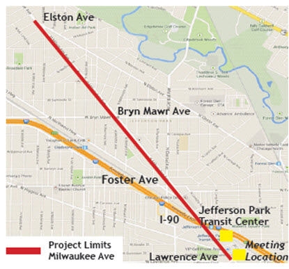 Milwaukee Ave Complete Streets Project map