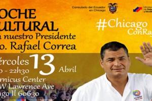 consulado, ecuador, chicago, Rafael Correa, noche cultural, 4-13-2016, Copernicus Center