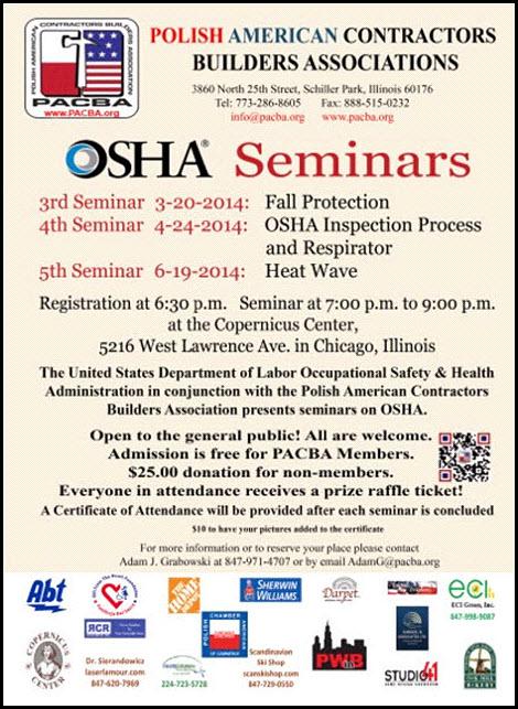 OSHA Seminar 3-20-14 Copernicus Center