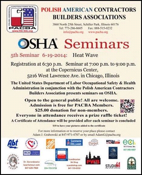 OSHA seminar for builders