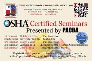 OSHA | PABCA | Chicago | Seminar | Builders | Contractors | training